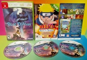 Blue-Dragon-XBOX-360-Game-Rare-All-3-discs-Rare-DragonBall-DBZ
