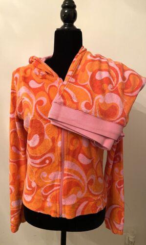Victoria Secret Pink Terry Cloth Sherbert Swirl Ho