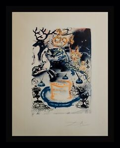 DALI Alice in Wonderland Who Stole The Tarts? Hand Sign/Numbered Surrealism ART