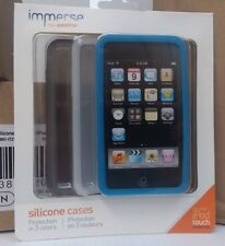 Immerse From Griffin Silicone Cases for iPod Touch 2nd Gen. White Gray Blue