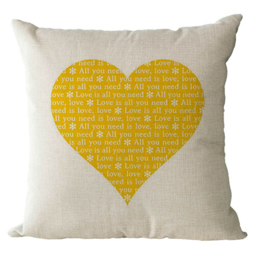Personalised Love Cotton And Linen Cushion Cover Living Room Sofa Pillowcase New