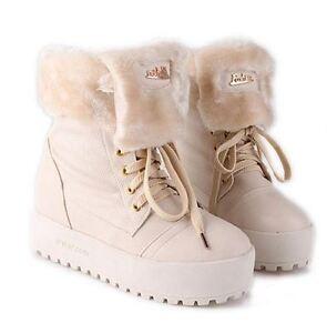Botines botas zapatos cómodo mujer talón 4 cm blanco caldi como piel 9070