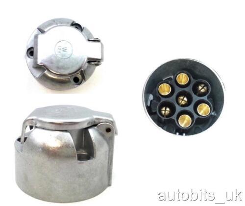7 pin metal socket Tow Bar Towing Trailer Caravan Camper  12v 12N