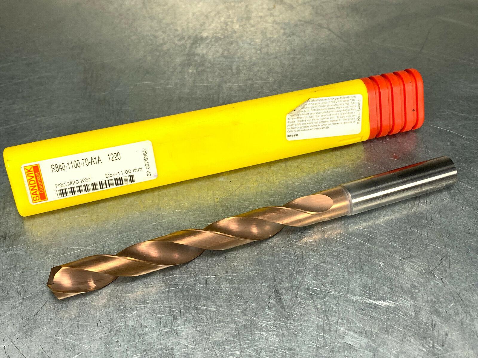 "SANDVIK Carbide Coolant Jobber Drill 7.3mm 0.2874/"" 144° TiAlN 4234 860.1-0730..."