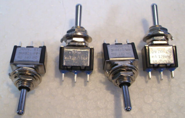 2K280 4 x Mini SPDT Biased Switches Ideal for Peco Hornby Point Motors 1st Class