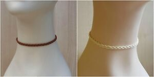 Leather-Cord-Charm-Choker-Chic-Plaited-Suede-Classic-Leather-Choker-Necklace
