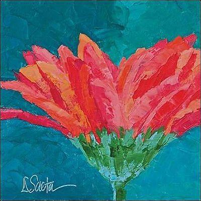 Leslie Saeta: A Good Day Keilrahmen-Bild Leinwand Blumen Blüte rot