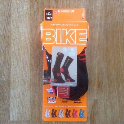 COMPRESSPORT IRONMAN BIKE Pro Racing Socks V3.0 39-41 5.5-7 BLACK
