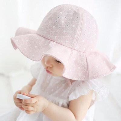 Summer Kids Girls Children Hats Casaul Cap Sun Beach Travel Cotton Wide Brim Hat