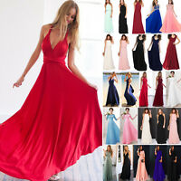 Womens Formal Long Chiffon Prom Evening Party Bridesmaid Wedding Maxi Dress New