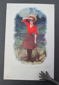 1905 T Pollock White City Art Co Lady Miner Postcard