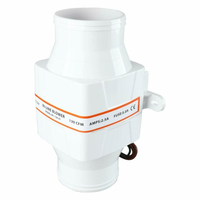 SeaLux Marine In-Line Bilge Turbo Blower 12 Volt-3 inch dia hose