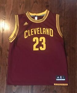 premium selection bf56e d1099 Details about Boy's Youth NBA Cleveland Caverlers #23 Lebron James Jersey  Size Large Adidas