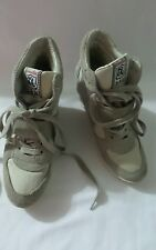 Ash Cool Suede wedge Ivory Heeled fashion Sneakers Size 7