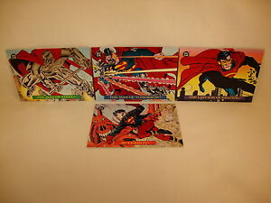 SKYBOX DC BLOODLINES EMBOSSED CHASE SET OF 4 CARDS