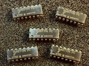 25pcs x  74ACT174PC   Fairchild 74ACT174  DIP IC
