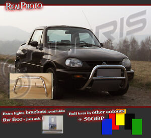 STAINLESS STEEL! VOLVO XC70 2000-2007 LOW BULL BAR WITHOUT AXLE BARS GRATIS