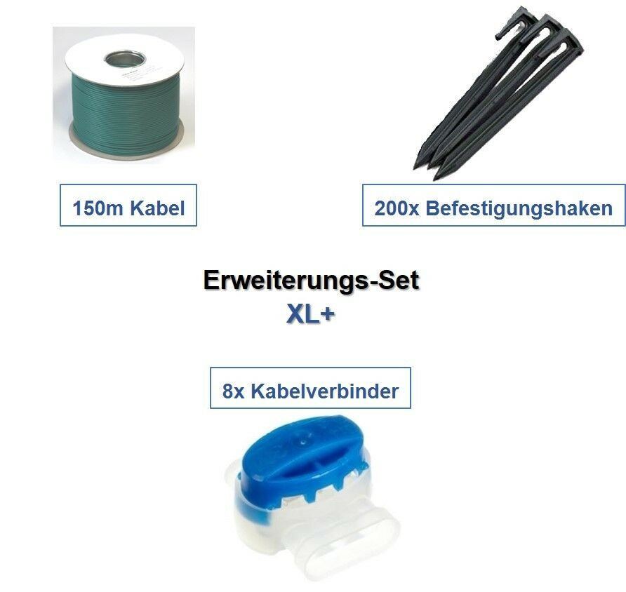 Erweiterungs-Set XL+ Ambrogio L30 Kabel Haken Verbinder Erweiterung Paket Kit