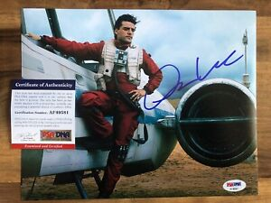Oscar Isaac As Poe Signed 8x10 STAR WARS Photo Autograph PSA/DNA Authentic COA