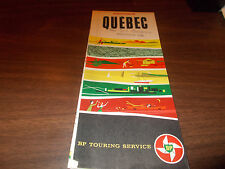 1962 BP Quebec Vintage Road Map / Scarce Map !!