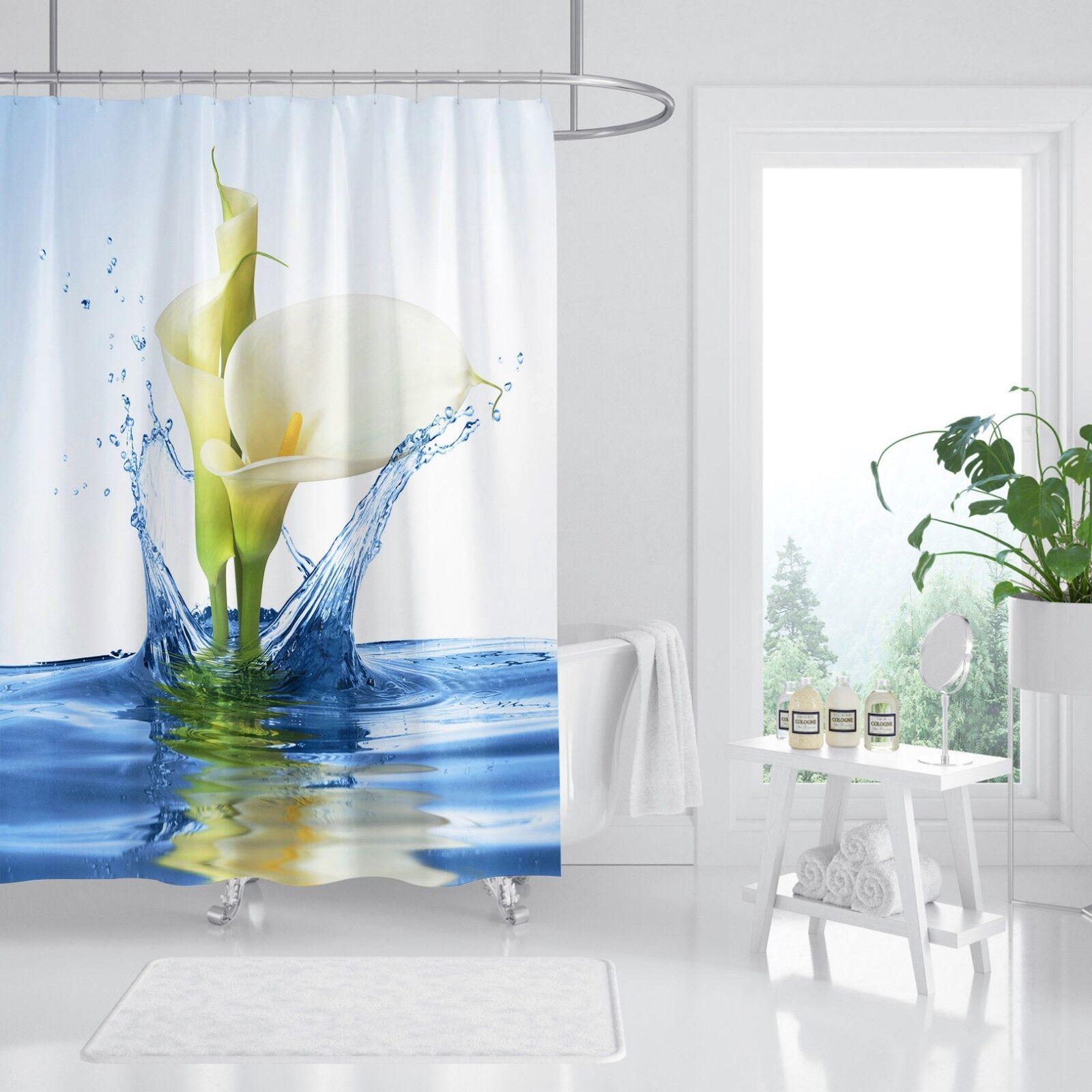 3D Water Lily ART 9 Rideau de Douche Imperméable Fibre Salle de Bain Toilette Windows