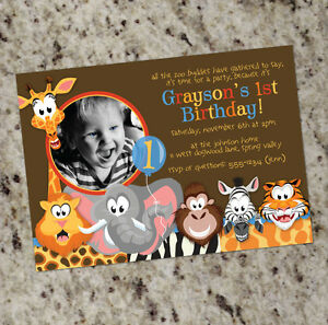 Image Is Loading Zoo Buddies Jungle Safari Animals Themed Birthday