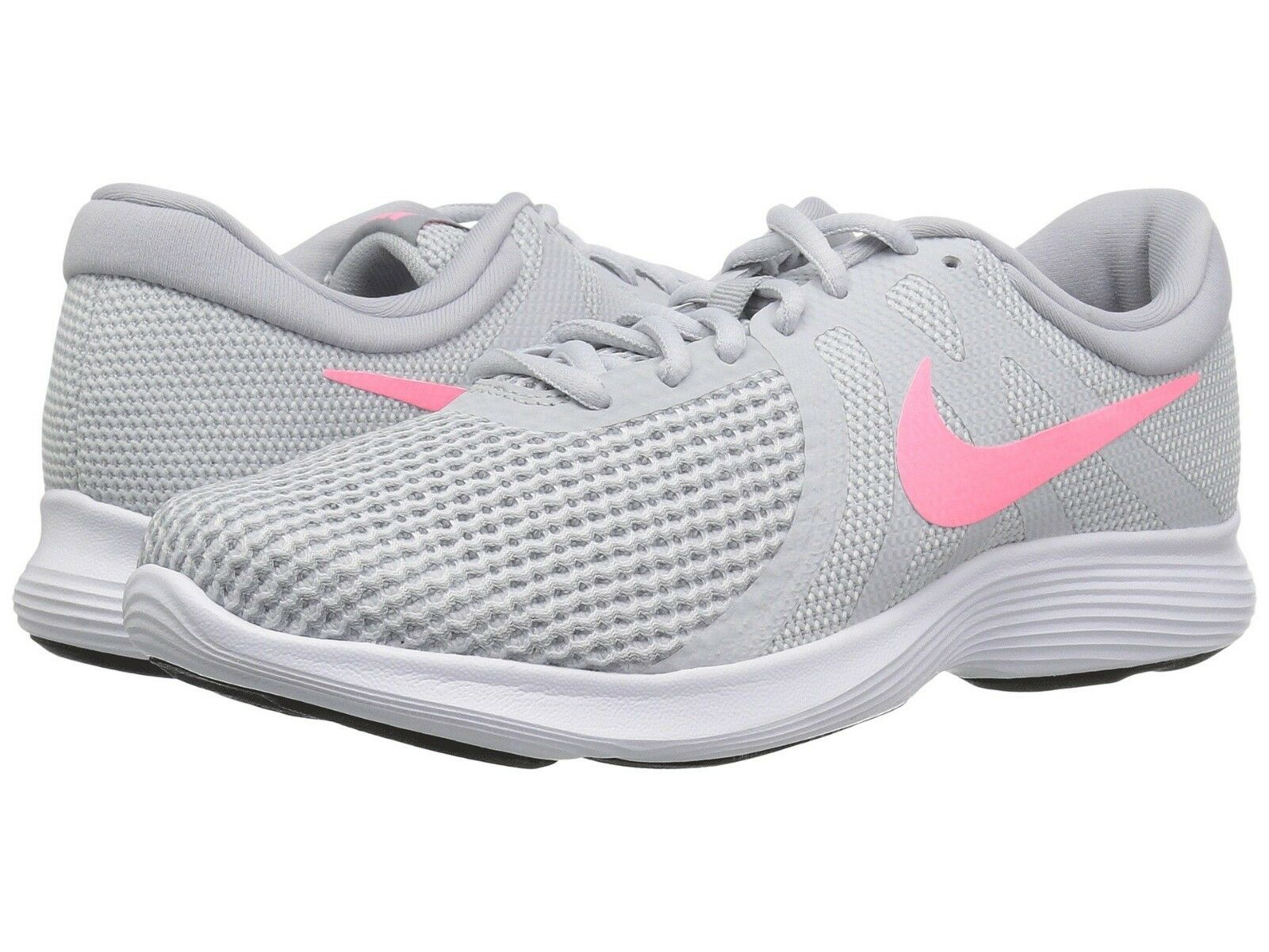 Nike Women's Revolution 4 Running Shoes Pure Platinum Sunset Pulse