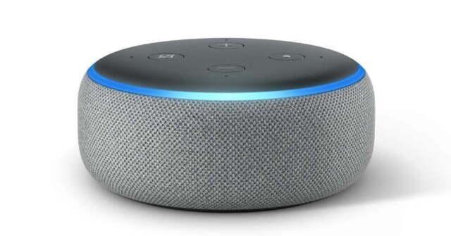 NEW SEALED Amazon Echo Dot (3rd Gen) Smart speaker with Alexa-Heather Gray