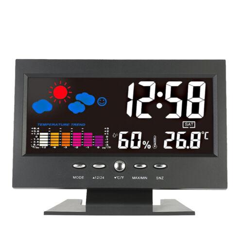 Stazione Meteo LCD colorato al coperto Display di umidità della temperatura E4T6