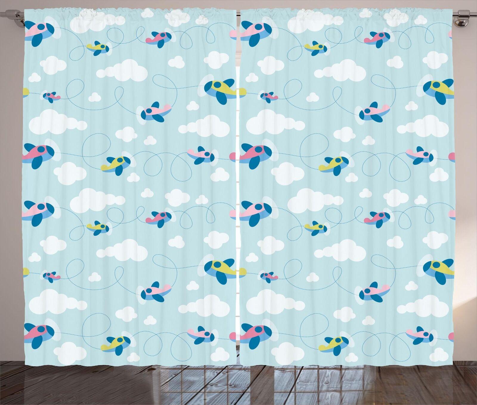 Conjunto de 2 Paneles Cortinas Boho Colorido Decoración 5 tamaños de ventana Cortinas ambesonne
