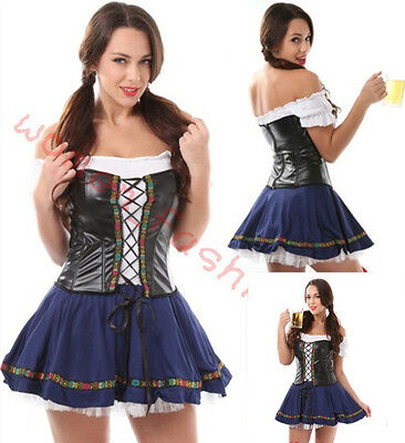 Plus Size S/M XL German Dutch Beer Maid Girl Adult Costume Halloween Fancy Dress  sc 1 st  eBay & maid collection on eBay!