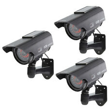 3 X Solar Power Fake Dummy Security CCTV Camera Waterproof IR LED Surveillance