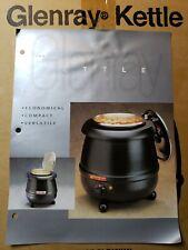 Soup Kettle Commercial Grade Glenray Black 105 Quart Electric Warmer
