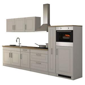 Kuchenzeile Landhaus Einbaukuche Mit Elektrogeraten Kuchenblock 320