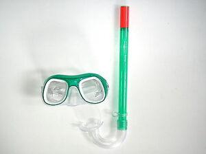 Kinder Schnorchelset Grun Taucherbrille Und Schnorchel Ebay