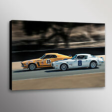 1971 AMC Javelin #2 Trans-Am Racecar Automotive Car Photo Wall Art Canvas Print