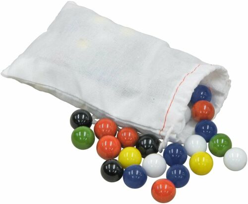 60 Pcs Solid Color Marbles Set Run Chinese Checker Board Game Glass