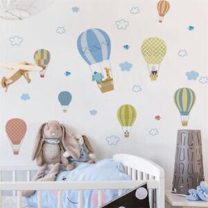Animals-Fire-Balloon-Removable-Wall-Decals-Sticker-Kids-BabyNurseryRoomDecorsTDO