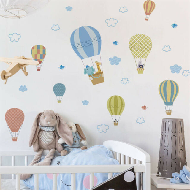 Animals fire balloon removable wall decals sticker kids baby nursery decor PT