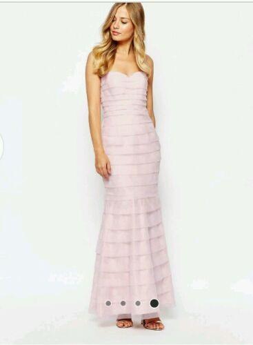 New Size Wedding 10 Maxi Bridesmaid Evening Prom Minnie Blush Dress Coast Axvw7IIq