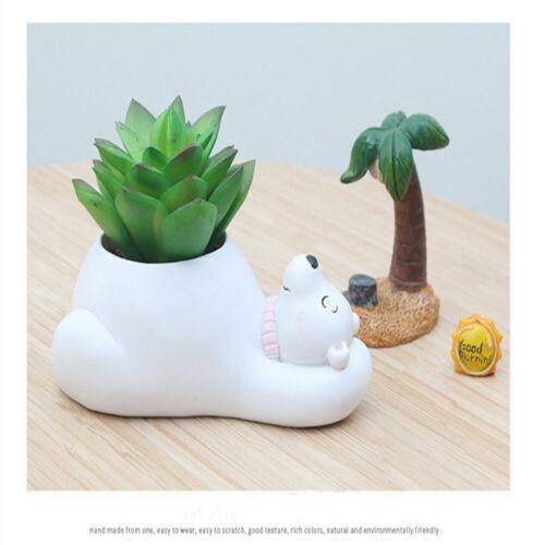Cute Animal Succulent Cactus Resin Flower Pots Mini Planter for Indoor Office