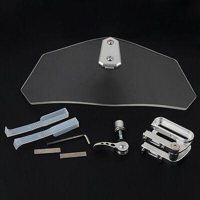 Universal Motorcycle Wind Screen Deflector Motorbike Clear Windshield Windscreen