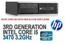 HP Compaq 8300 Elite SFF # INTEL® CORE™ I5- 3470 3.2Ghz #8GB Ram # 1000 GB# WIFI