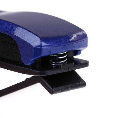 Blue Car Sun Visor Clip Holder For Reading Glass Sunglasses Eyeglass Card Pen EC