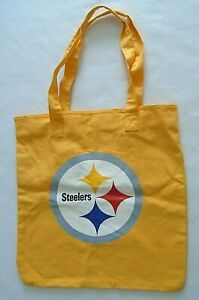 Nfl Pittsburgh Steelers Bright Yellow Cloth Canvas Tote