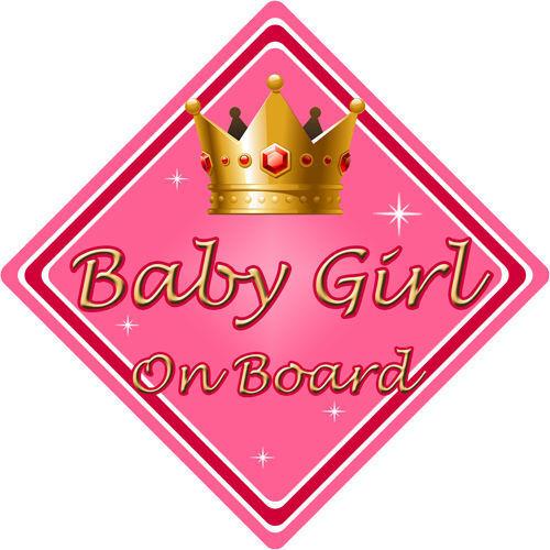 No Personalizado De Niño//Bebé A Bordo Coche Firmar ~ rosa bebé niña a bordo ~