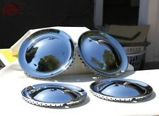"Baby Moon 15"" Hollywood Style Hub Cap Wheel Cover Hot Rat Rod Lead Sled Set of 4"