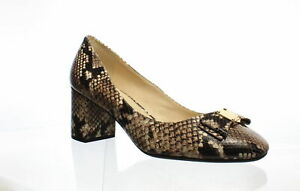Cole-Haan-Womens-Tali-Bow-Roccia-Snake-Pumps-Size-10-5-1236787
