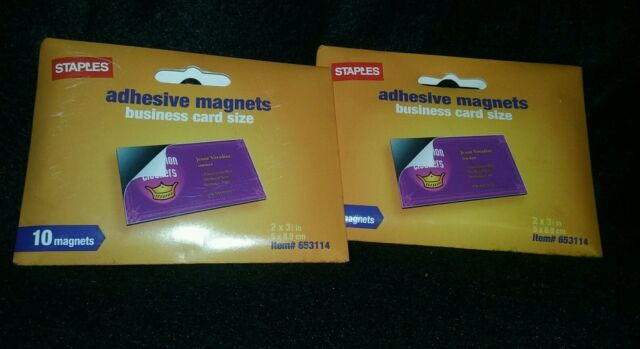 Staples Adhesive Magnets Business Card Size Free Shipping