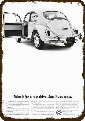 1961 VOLKSWAGEN BEETLE VW BUG CAR Vintage Look REPLICA METAL SIGN